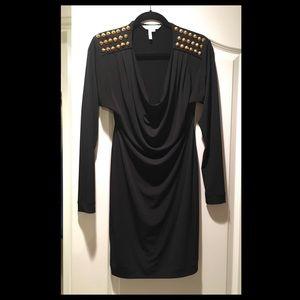 BCBG Dress w/Studded Shoulders